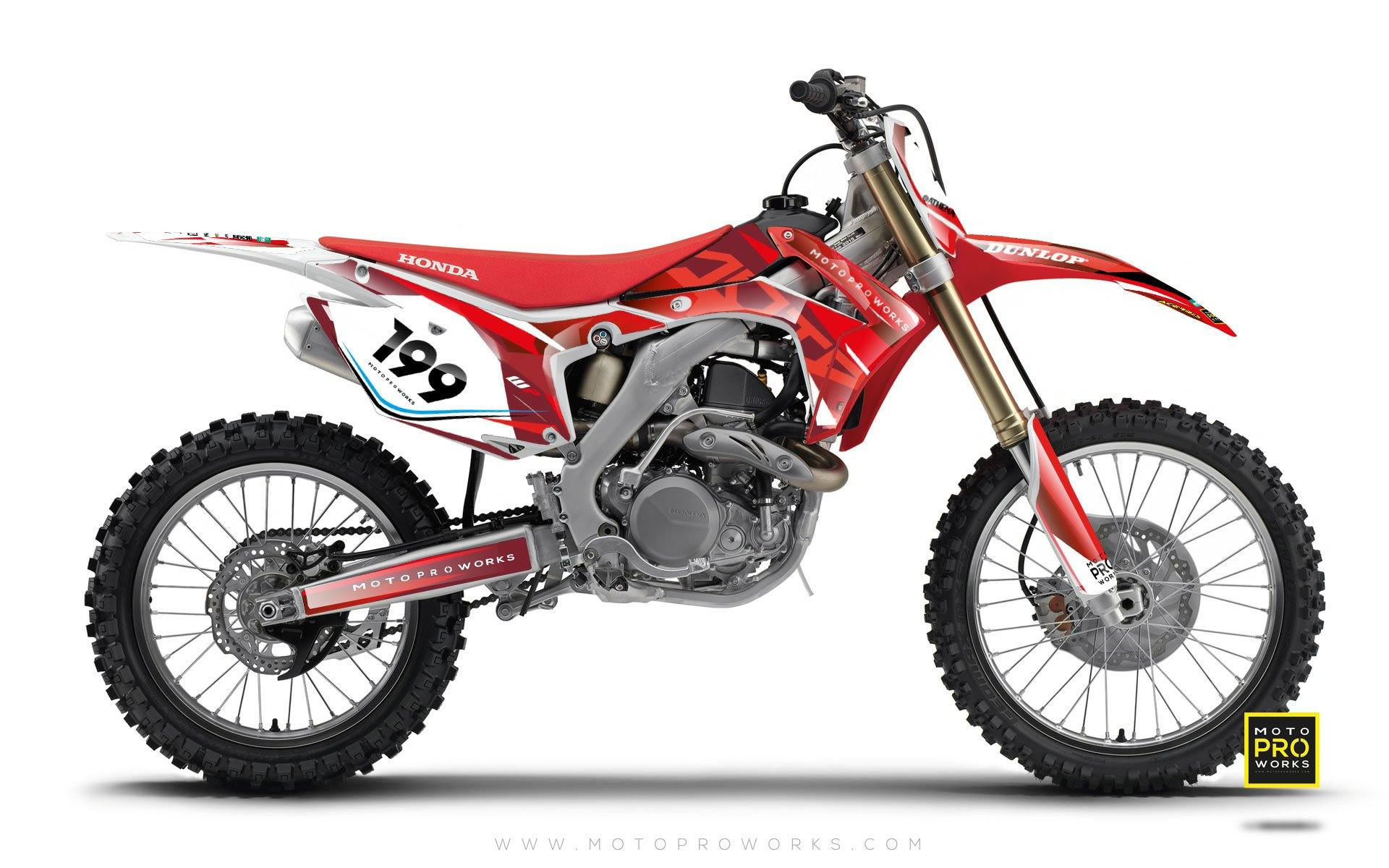 "Honda GRAPHIC KIT - ""TECH9"" (blood) - MotoProWorks 
