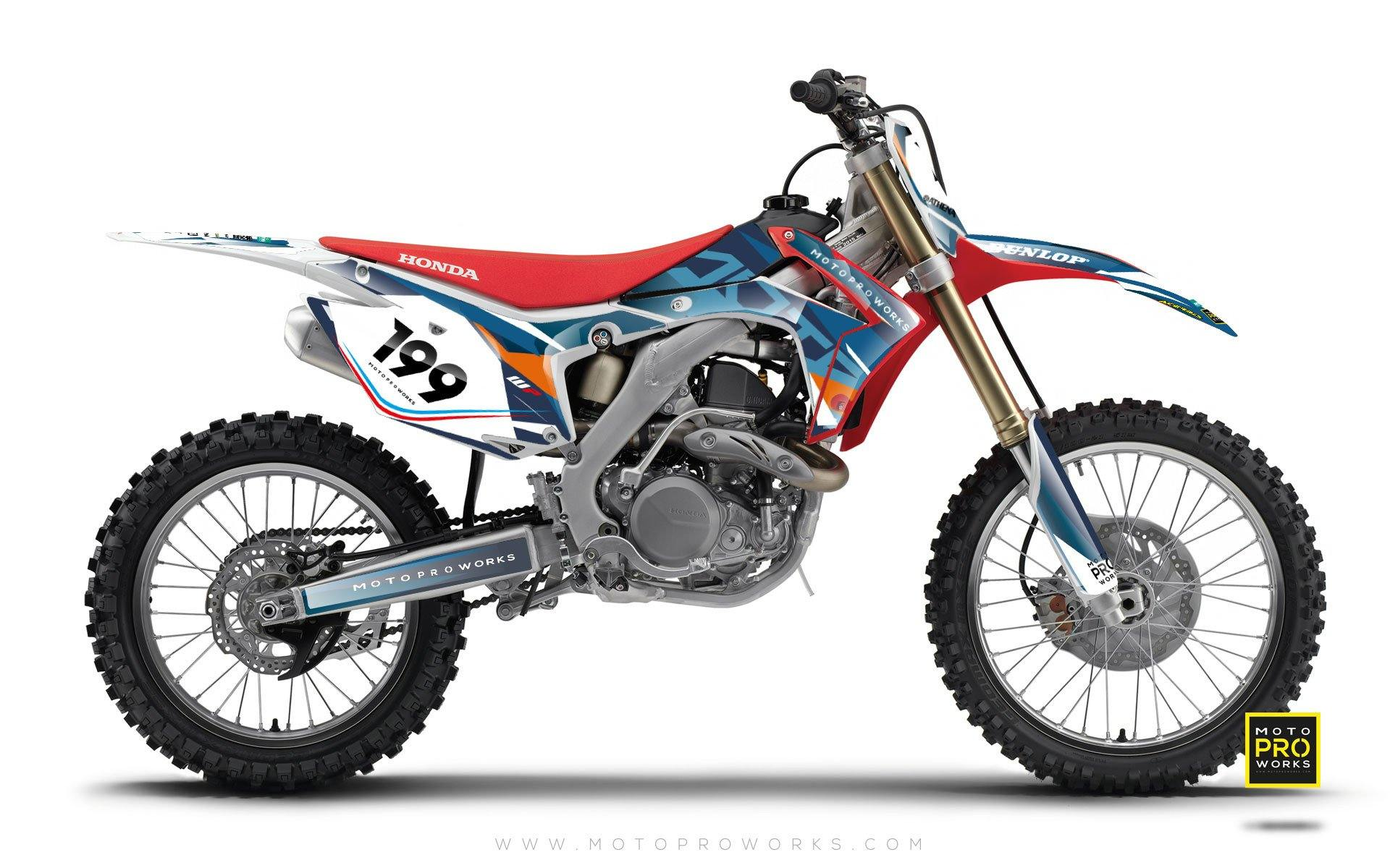 "Honda GRAPHIC KIT - ""TECH9"" (hydro) - MotoProWorks 