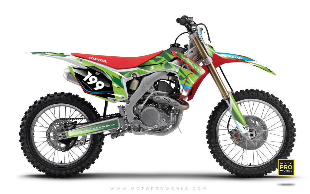 "Honda GRAPHIC KIT - ""TECH9"" (nature) - MotoProWorks 