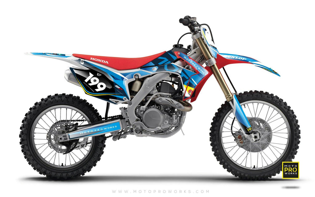 "Honda GRAPHIC KIT - ""TECH9"" (pacific) - MotoProWorks 