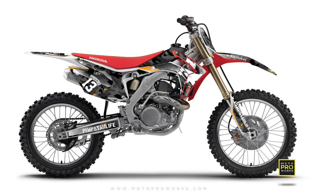 "Honda GRAPHIC KIT - ""WILDCAMO"" (dark) - MotoProWorks 