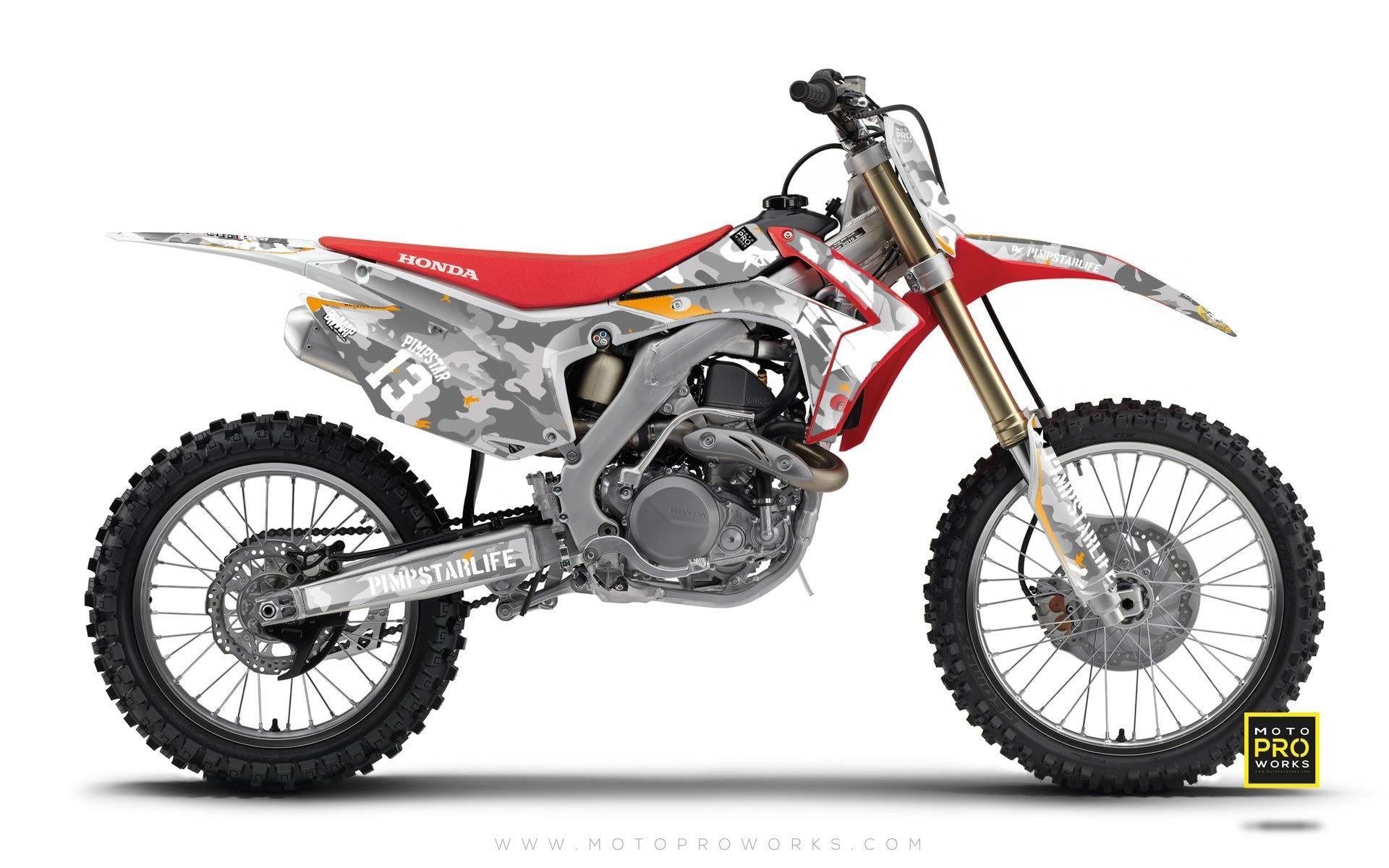 "Honda GRAPHIC KIT - ""WILDCAMO"" (snow) - MotoProWorks 