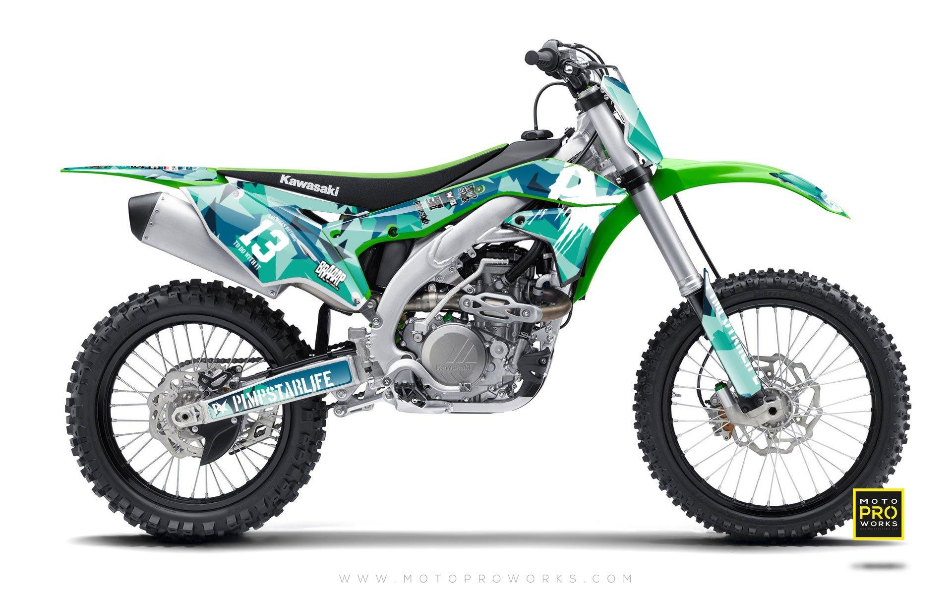 "Kawasaki GRAPHIC KIT - ""M90"" (banger) - MotoProWorks 