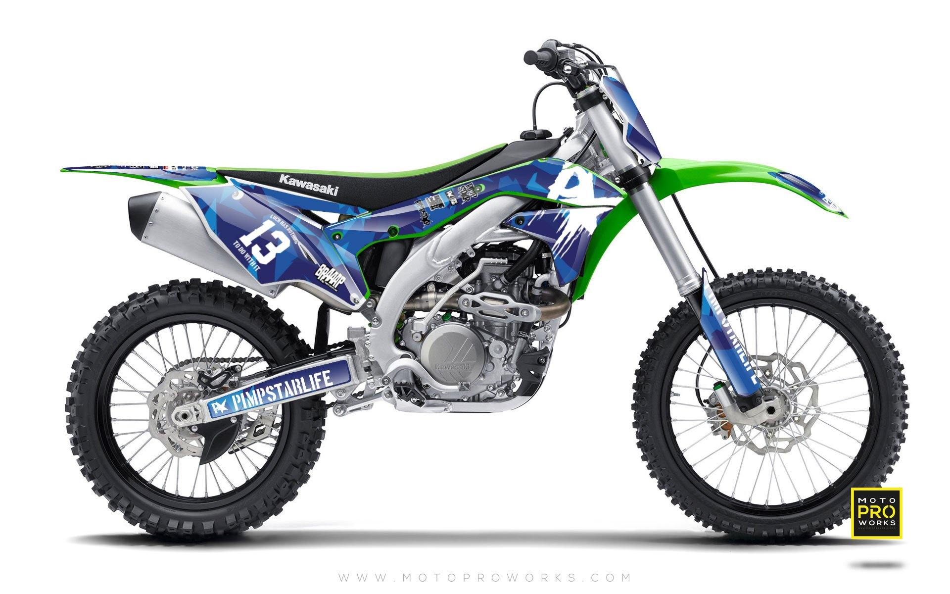 "Kawasaki GRAPHIC KIT - ""M90"" (blue) - MotoProWorks 