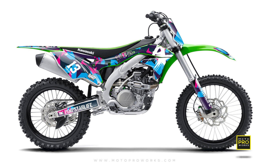 "Kawasaki GRAPHIC KIT - ""M90"" (candy) - MotoProWorks 