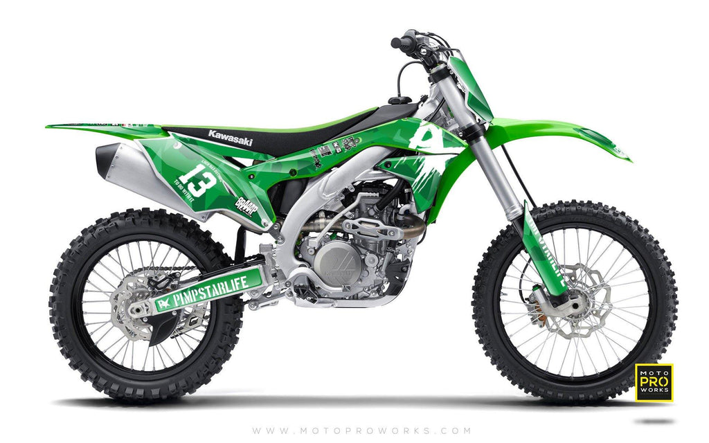 "Kawasaki GRAPHIC KIT - ""M90"" (green) - MotoProWorks 