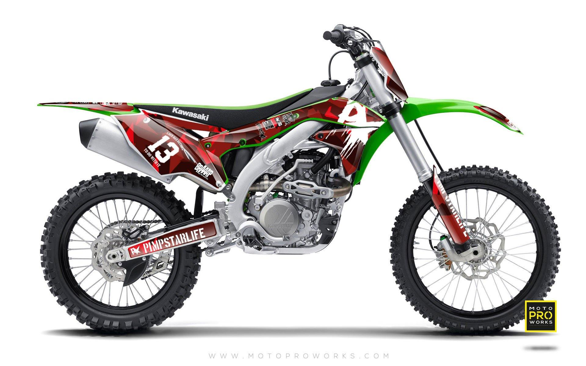 "Kawasaki GRAPHIC KIT - ""M90"" (red) - MotoProWorks 