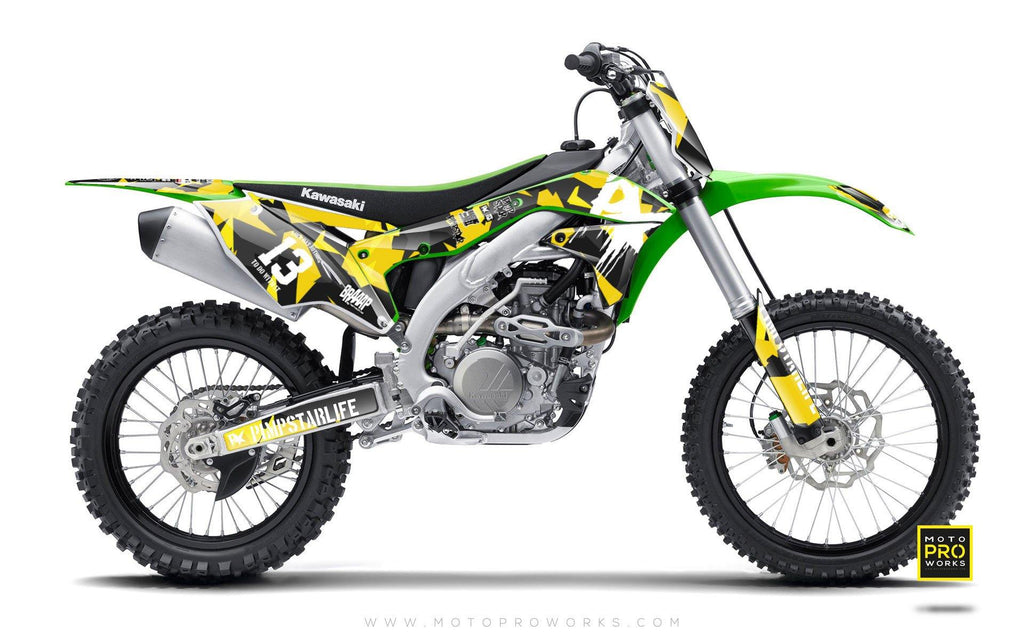 "Kawasaki GRAPHIC KIT - ""M90"" (wasp) - MotoProWorks 