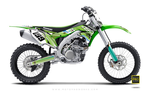 "Kawasaki GRAPHIC KIT - ""GOFAST"" (green) - MotoProWorks 