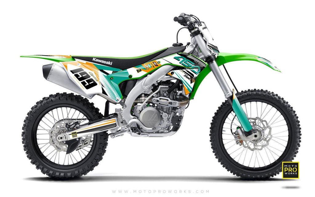 "Kawasaki GRAPHIC KIT - ""GOFAST"" (minty) - MotoProWorks 