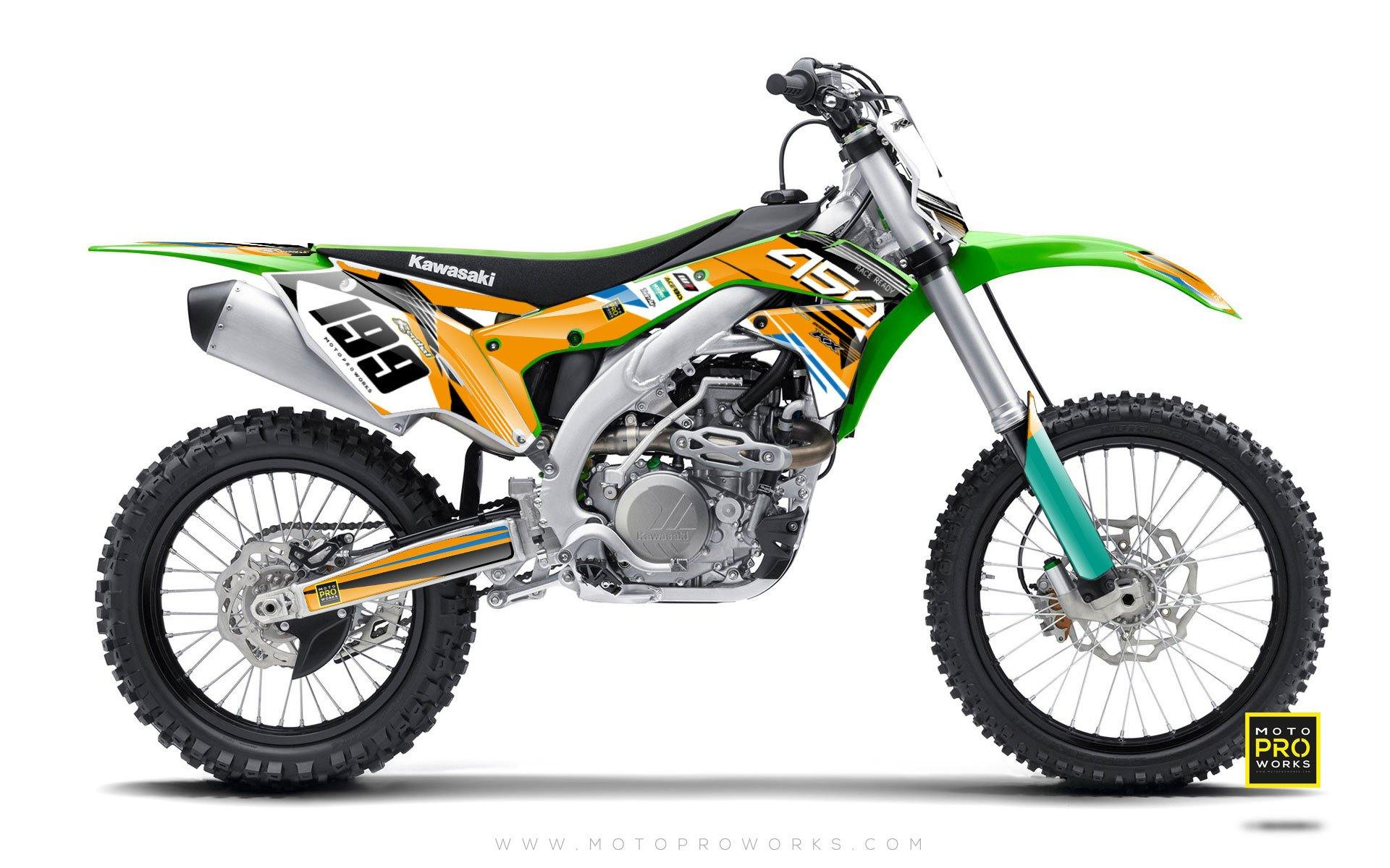 "Kawasaki GRAPHIC KIT - ""GOFAST"" (orange) - MotoProWorks 