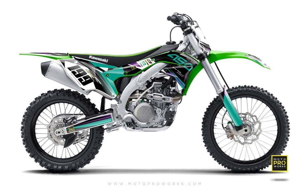 "Kawasaki GRAPHIC KIT - ""GOFAST"" (salmiak) - MotoProWorks 