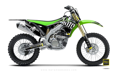 "Kawasaki GRAPHIC KIT - ""GTECH"" (black) - MotoProWorks 