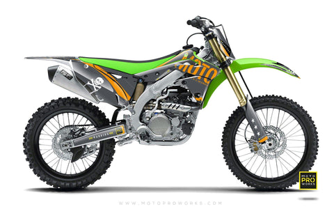"Kawasaki GRAPHIC KIT - ""GTECH"" (grey) - MotoProWorks 