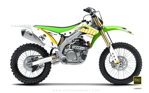 "Kawasaki GRAPHIC KIT - ""GTECH"" (white) - MotoProWorks 