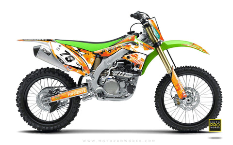 "Kawasaki GRAPHIC KIT - ""MARPAT"" (orange) - MotoProWorks 