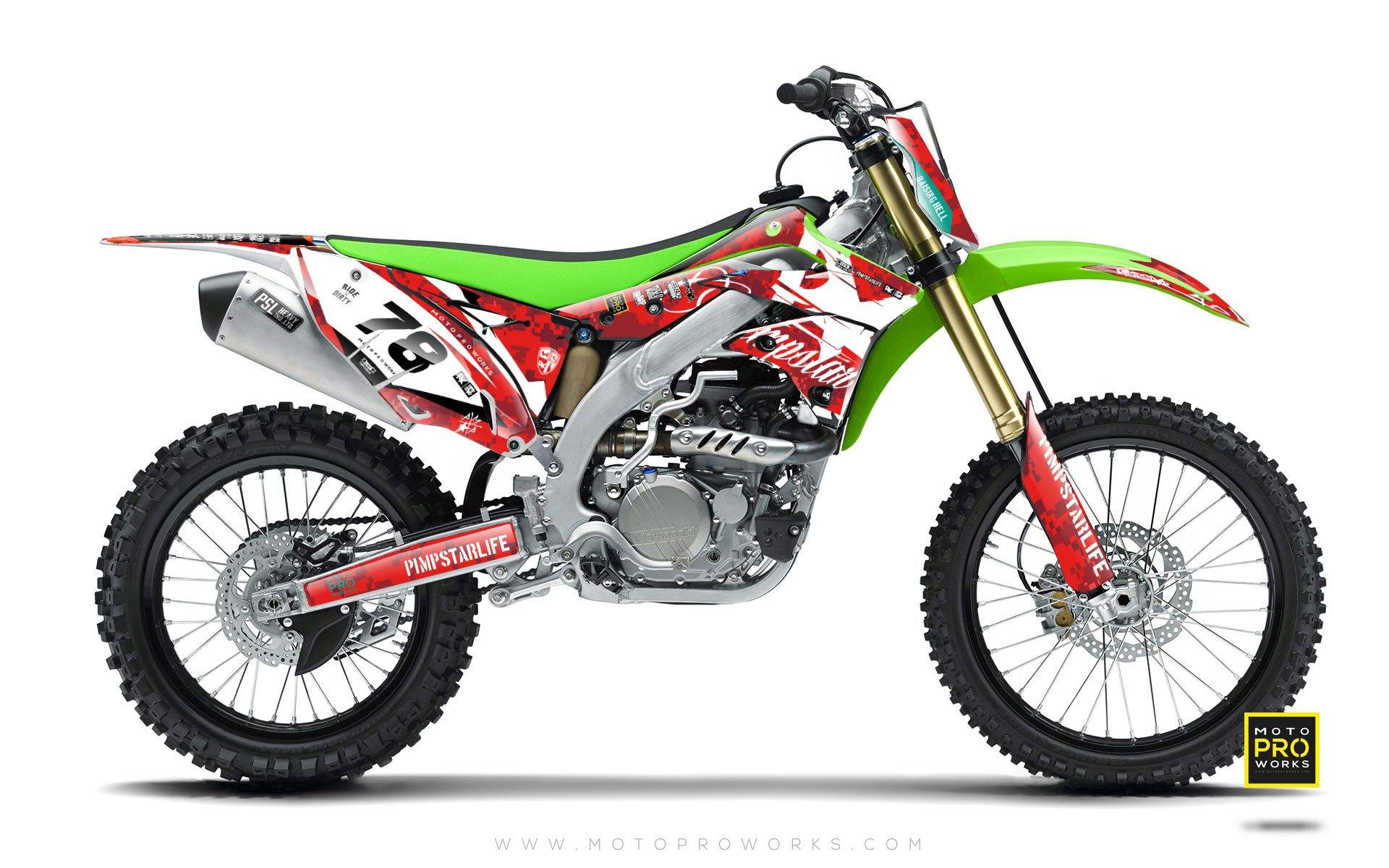 "Kawasaki GRAPHIC KIT - ""MARPAT"" (red) - MotoProWorks 