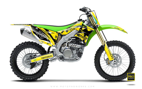 "Kawasaki GRAPHIC KIT - ""MARPAT"" (yellow) - MotoProWorks 