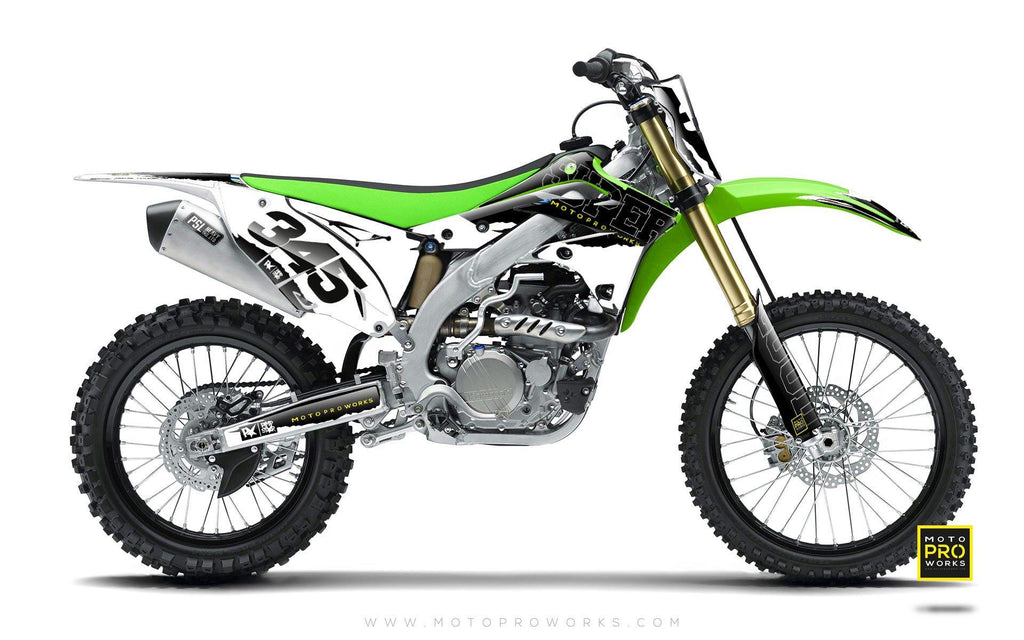 "Kawasaki GRAPHIC KIT - ""SCRATCHY"" - MotoProWorks 