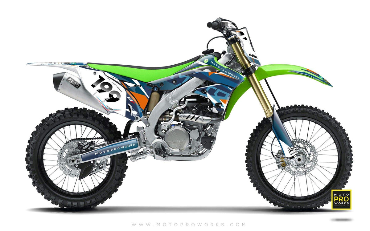 "Kawasaki GRAPHIC KIT - ""TECH9"" (hydro) - MotoProWorks 