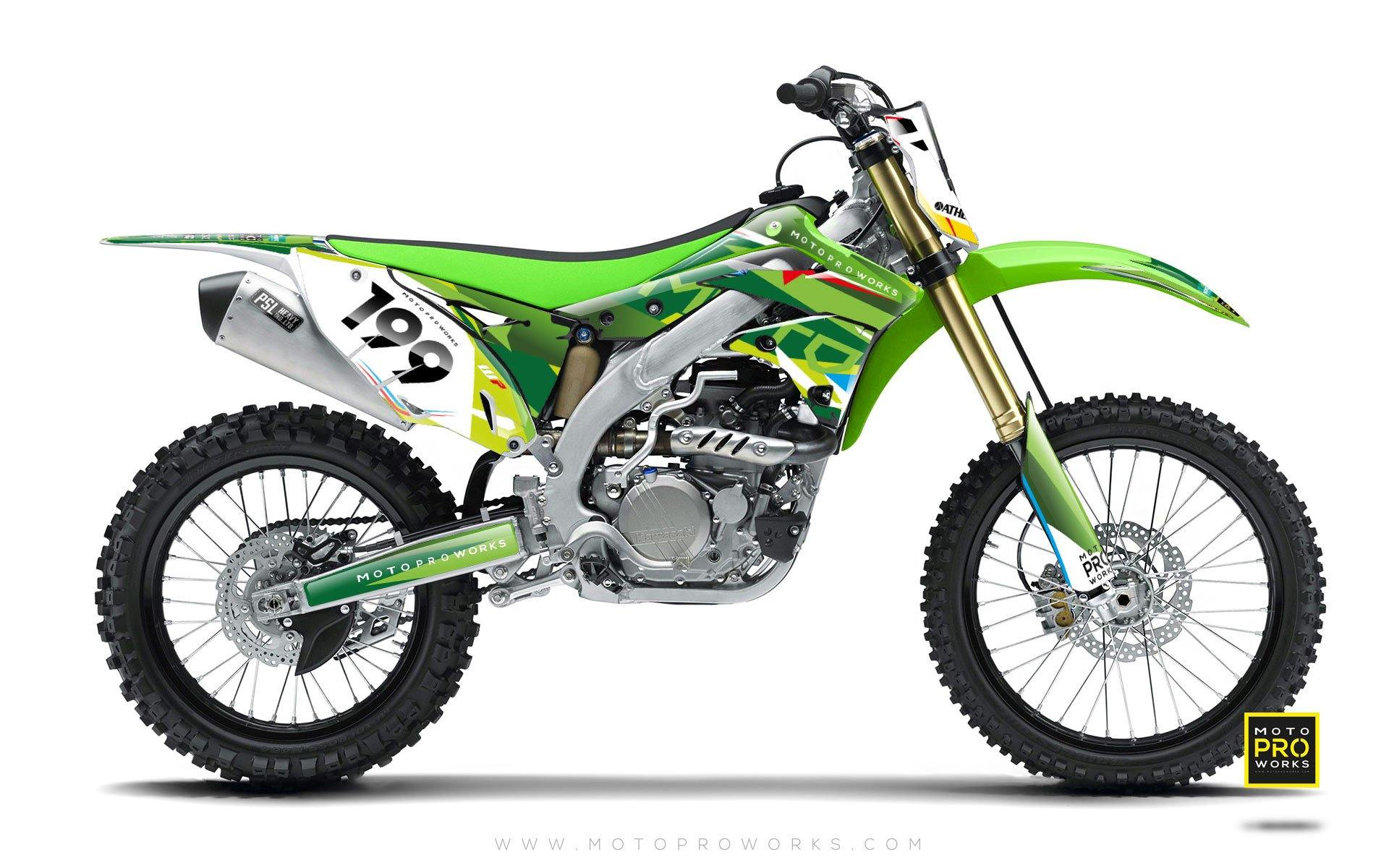 "Kawasaki GRAPHIC KIT - ""TECH9"" (nature) - MotoProWorks 