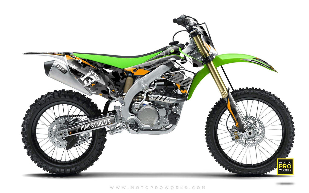 "Kawasaki GRAPHIC KIT - ""WILDCAMO"" (dark) - MotoProWorks 