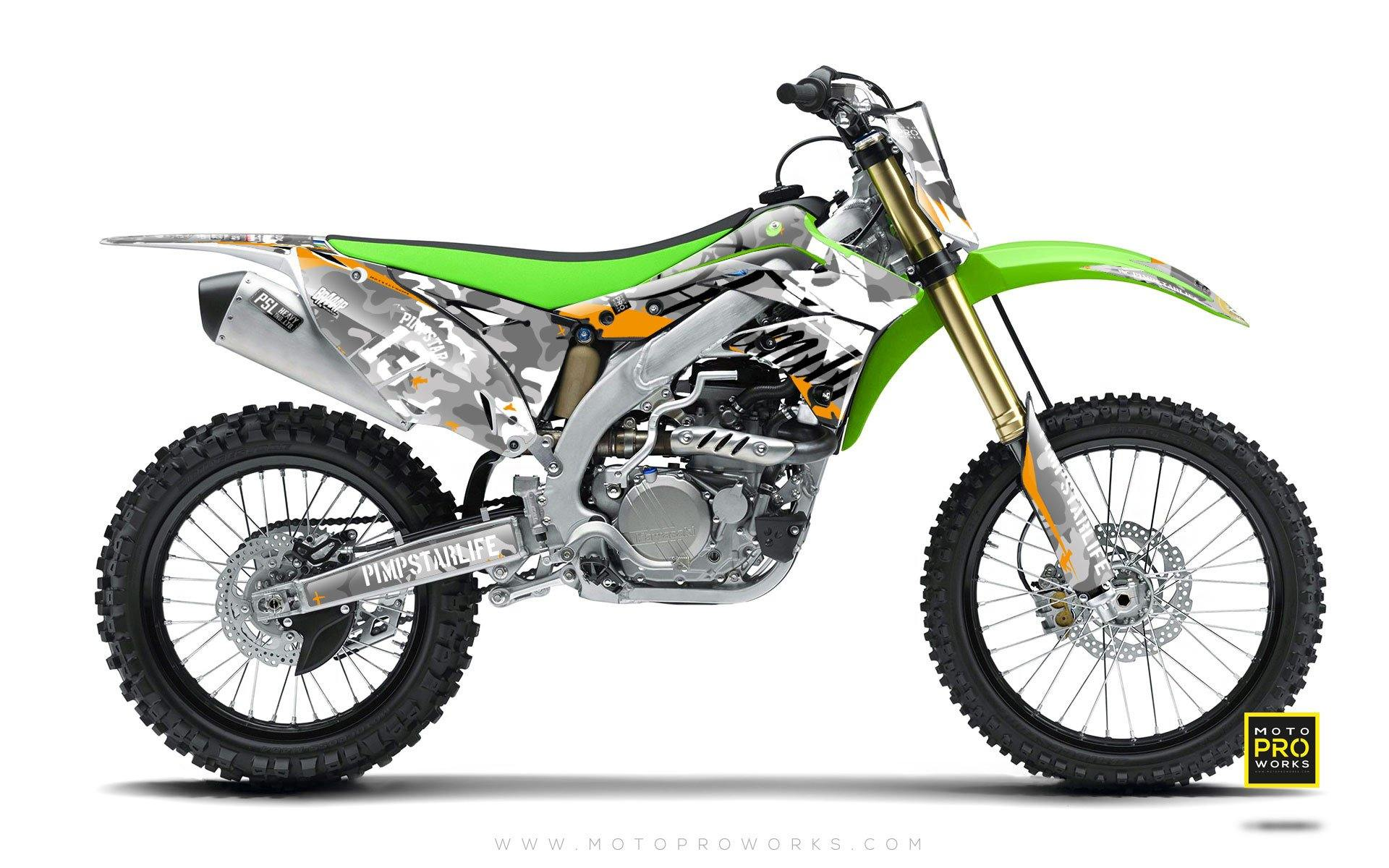 "Kawasaki GRAPHIC KIT - ""WILDCAMO"" (snow) - MotoProWorks 