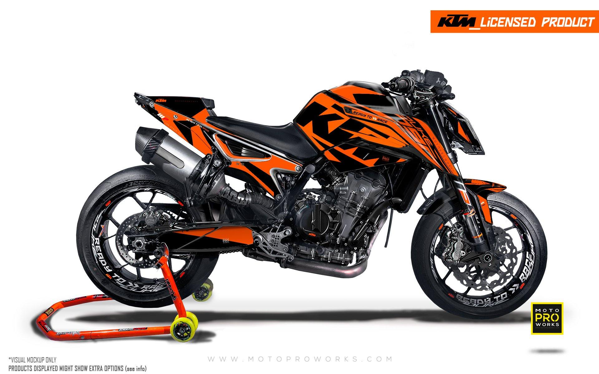 "KTM 790 Duke GRAPHIC KIT - ""Torque"" (Orange)"