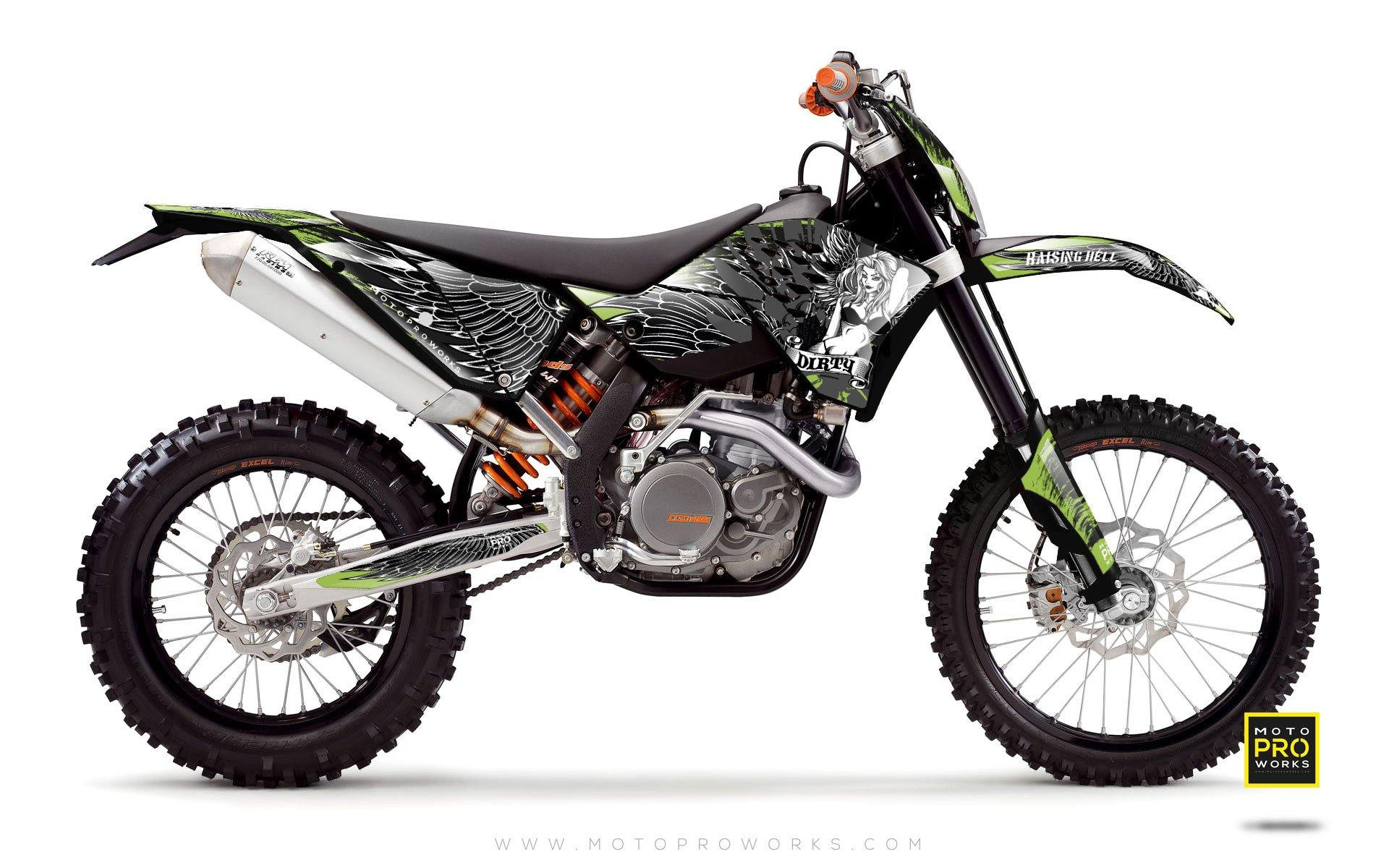"KTM GRAPHIC KIT - ""Dirty Angel"" (green) - MotoProWorks 