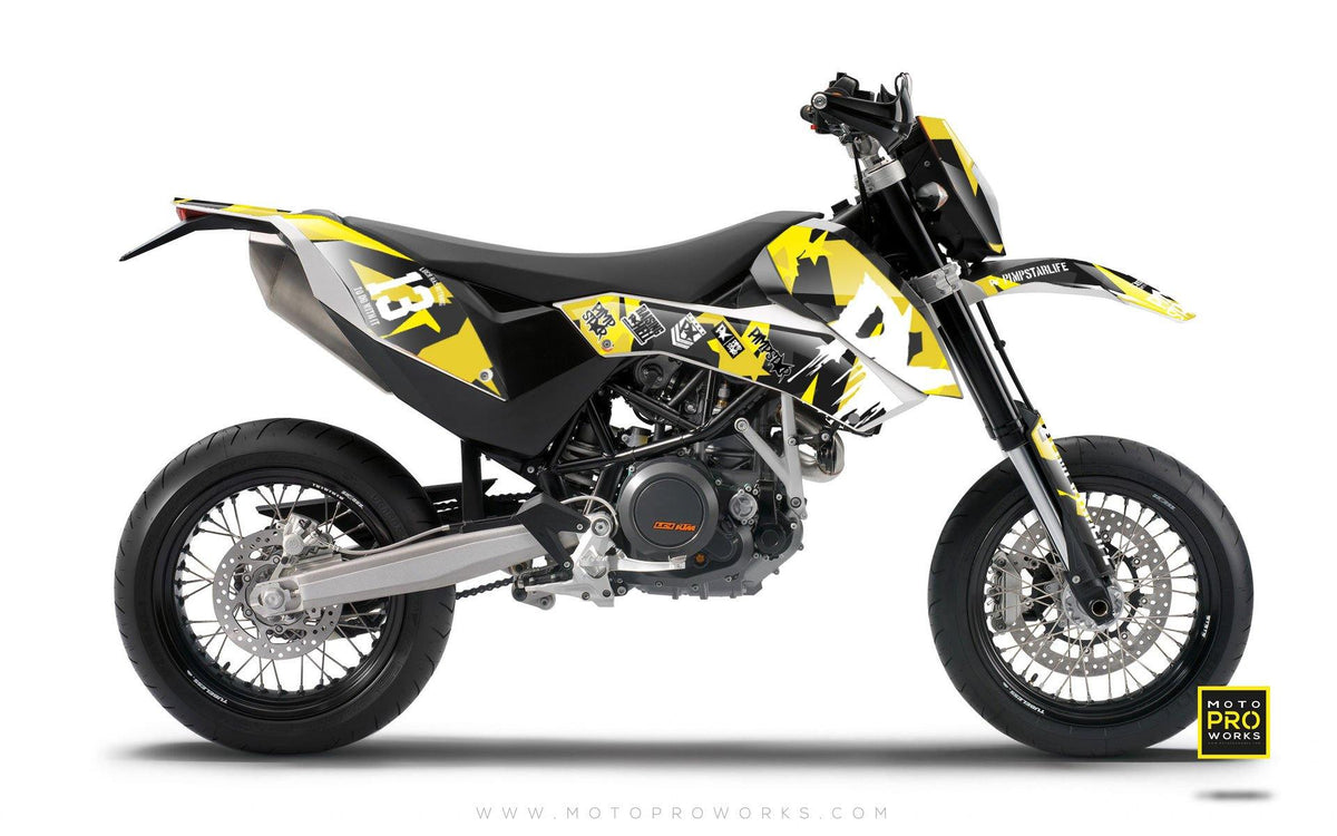 "KTM GRAPHIC KIT - ""M90"" (wasp) - MotoProWorks 