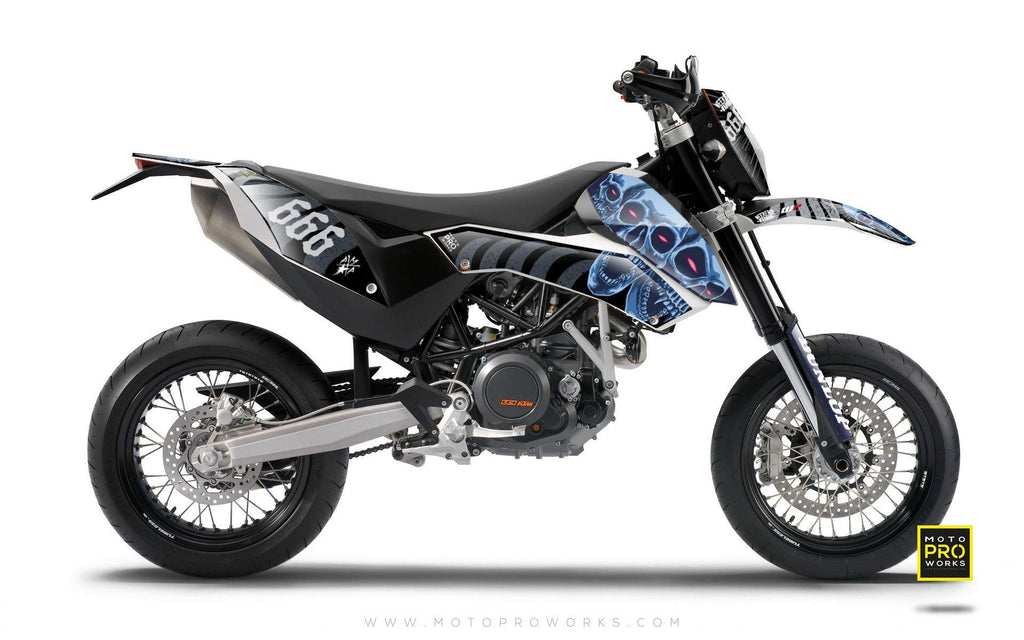 "KTM GRAPHIC KIT - ""TRIPLESKULL"" (black) - MotoProWorks 