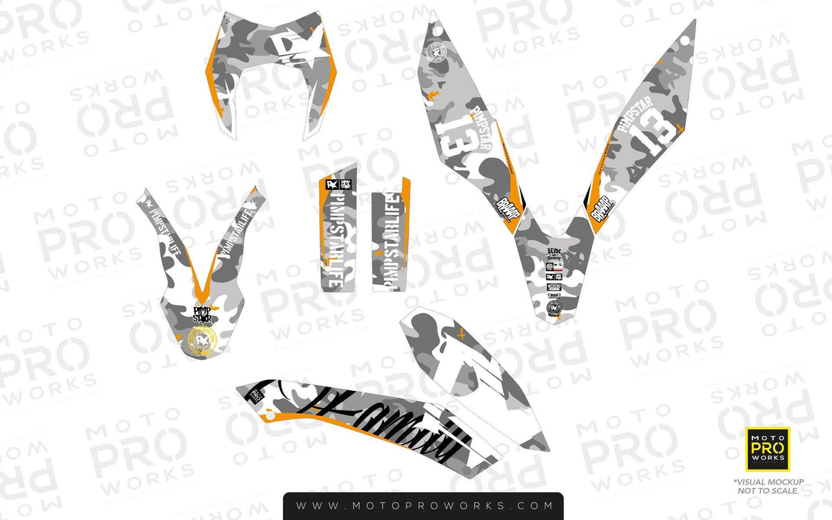 "KTM GRAPHIC KIT - ""WILDCAMO"" (snow) - MotoProWorks 