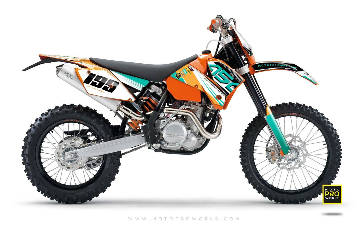 "KTM GRAPHIC KIT - ""GOFAST"" (minty) - MotoProWorks 