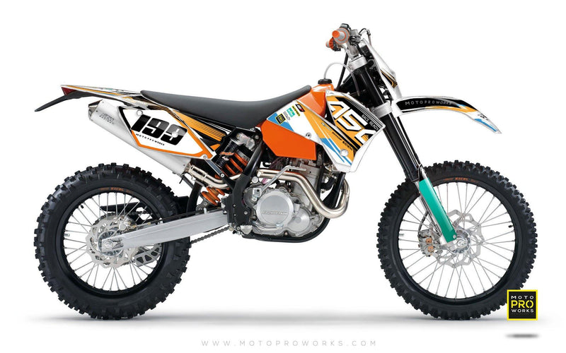"KTM GRAPHIC KIT - ""GOFAST"" (orange) - MotoProWorks 