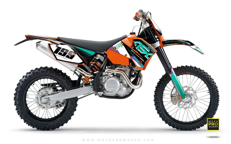 "KTM GRAPHIC KIT - ""GOFAST"" (salmiak) - MotoProWorks 