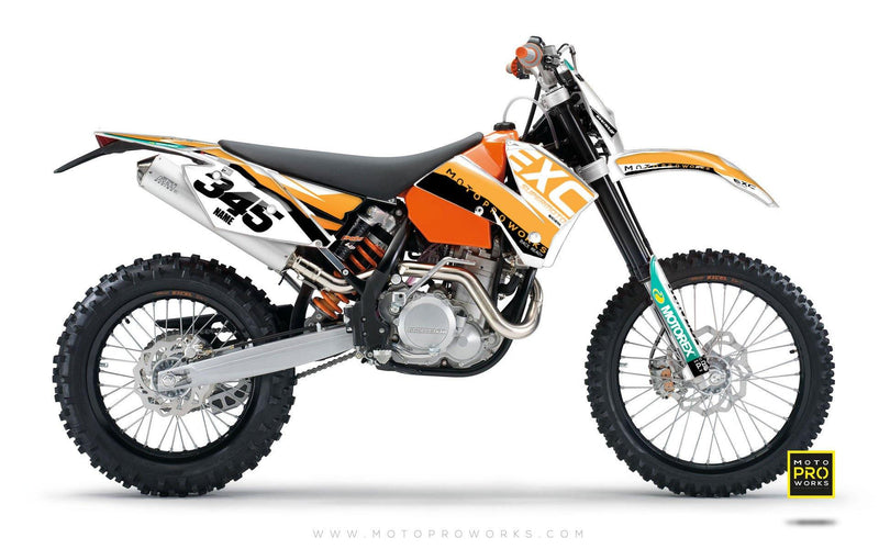 "KTM GRAPHIC KIT - ""GRADIUS"" (orange) - MotoProWorks 
