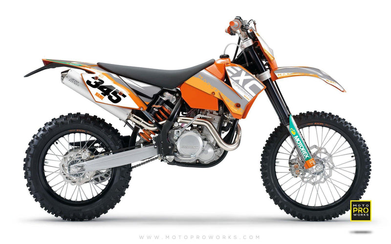 "KTM GRAPHIC KIT - ""GRADIUS"" (grey) - MotoProWorks 