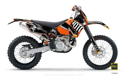 "KTM GRAPHIC KIT - ""GTECH"" (black) - MotoProWorks 