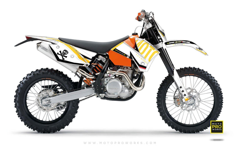 "KTM GRAPHIC KIT - ""GTECH"" (white) - MotoProWorks 