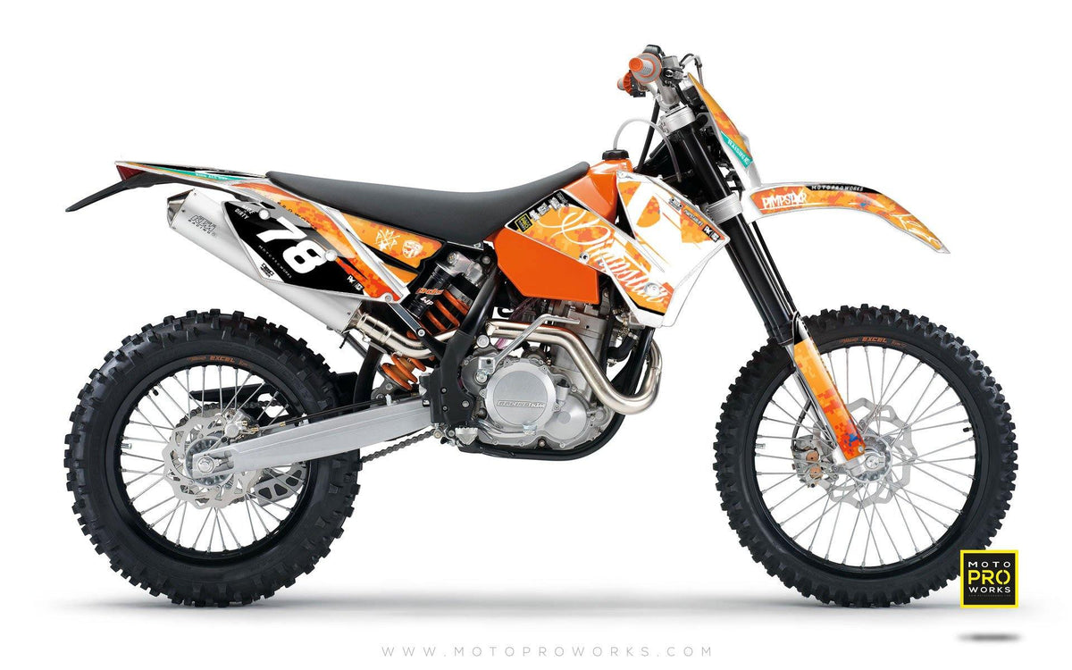 "KTM GRAPHIC KIT - ""MARPAT"" (orange) - MotoProWorks 