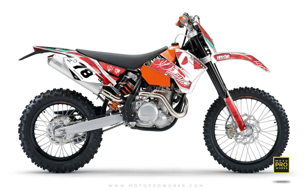 "KTM GRAPHIC KIT - ""MARPAT"" (red) - MotoProWorks 