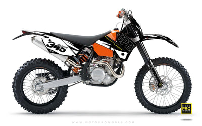 "KTM GRAPHIC KIT - ""SCRATCHY"" - MotoProWorks 