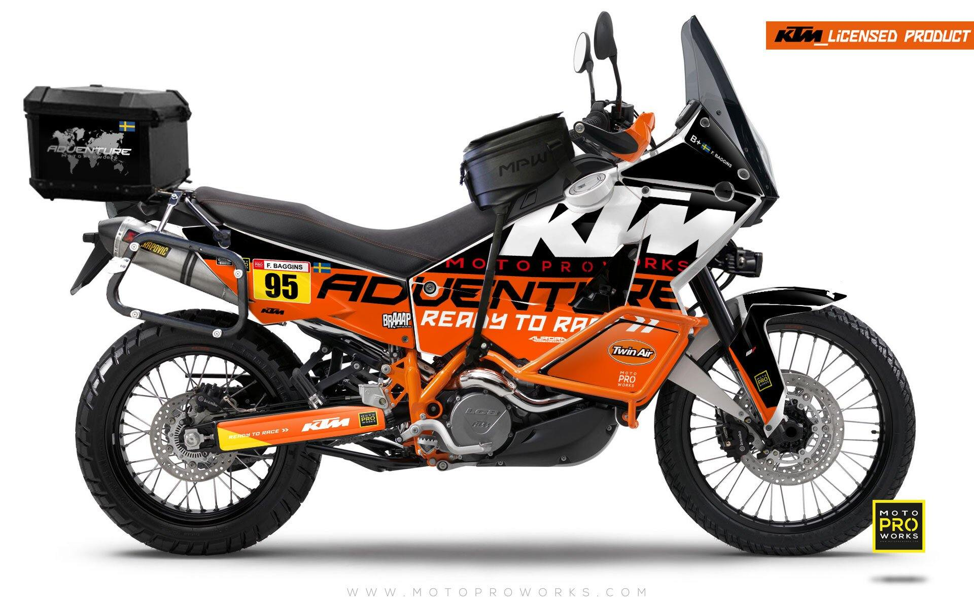"KTM Adventure GRAPHIC KIT - ""WAYPOINTER"" (midnight)"