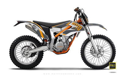 "KTM GRAPHIC KIT - ""GTECH"" (grey) - MotoProWorks 