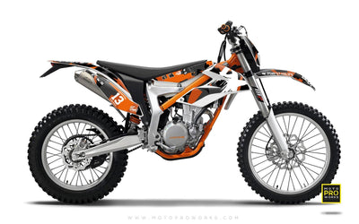"KTM GRAPHIC KIT - ""M90"" (orange) - MotoProWorks 