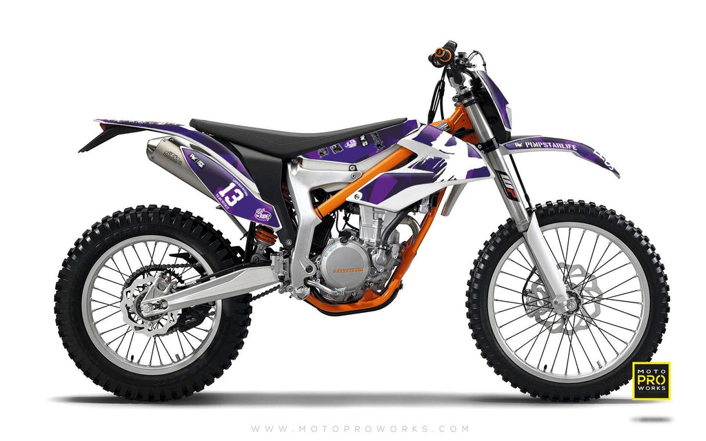"KTM GRAPHIC KIT - ""M90"" (purple) - MotoProWorks 