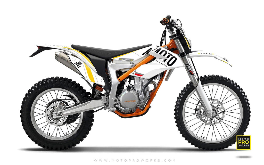 "KTM GRAPHIC KIT - ""GTECH"" (white)"