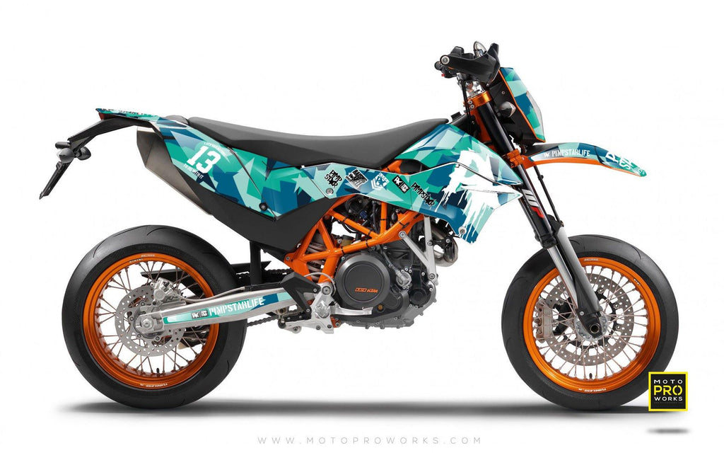 "KTM GRAPHIC KIT - ""M90"" (banger) - MotoProWorks 
