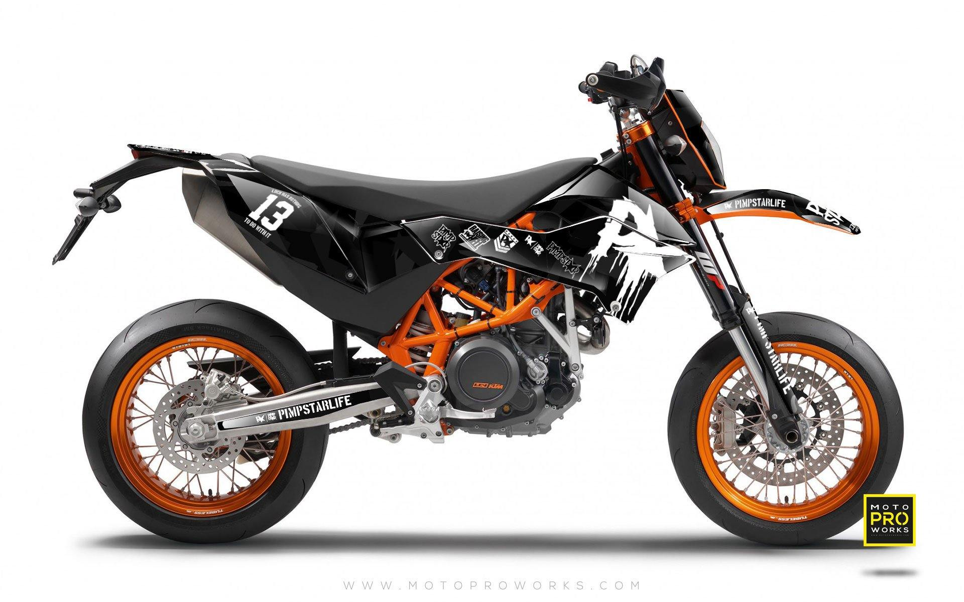 "KTM GRAPHIC KIT - ""M90"" (black) - MotoProWorks 