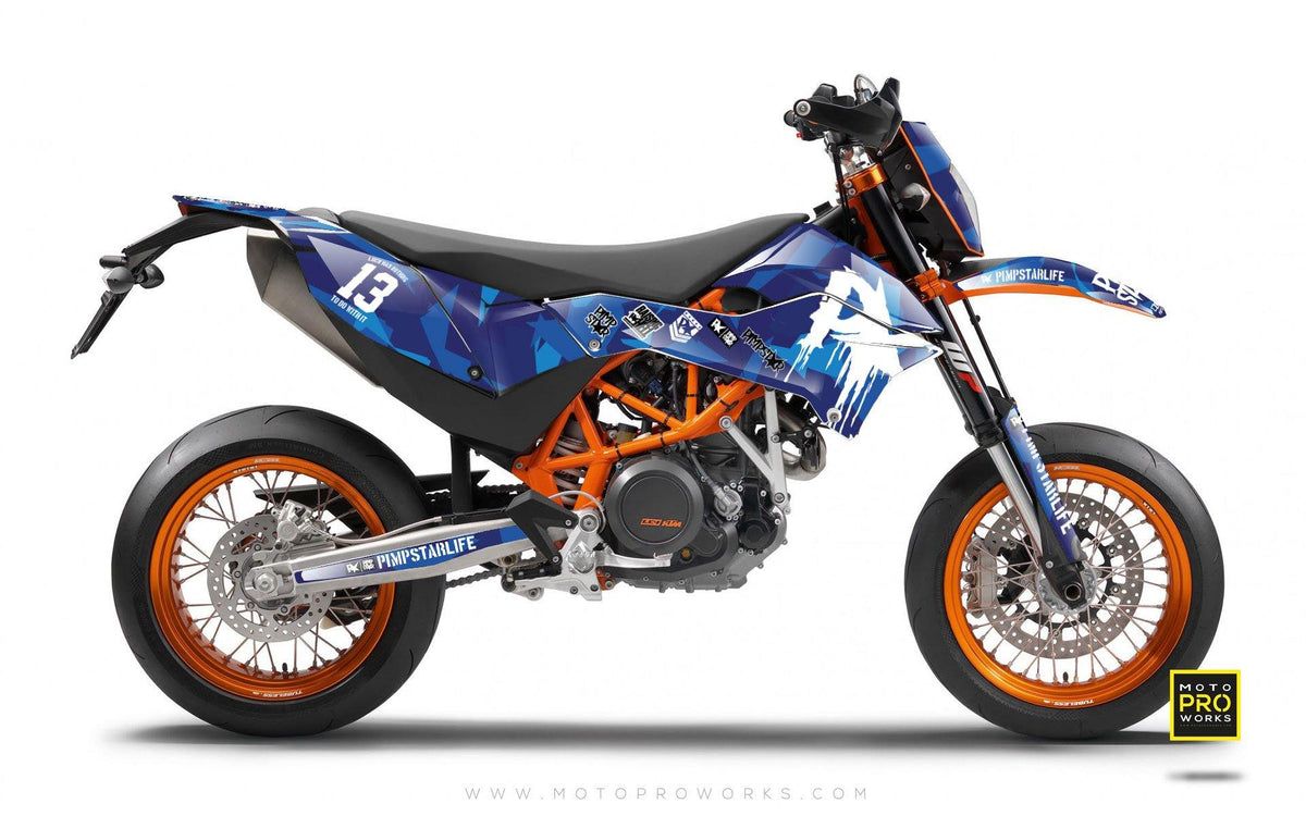 "KTM GRAPHIC KIT - ""M90"" (blue) - MotoProWorks 